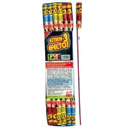 Cohete 3 efectos