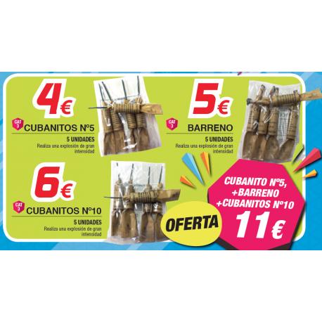 Oferta Cubantos n5+Barreno+Cubanitos n10