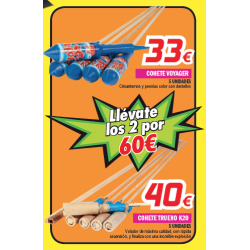 Oferta Pack 2 Cohetes: Voyager y K-20