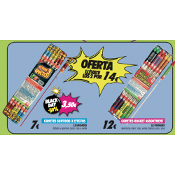 Oferta Pack 2 Cohetes Medianos: Surtido 3 efectos y Rocket Assortment